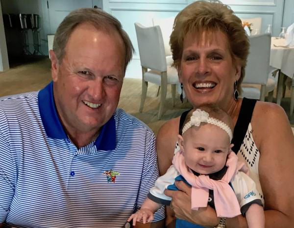 Rob and Carrie Lowther with their granddaughter, Isabella