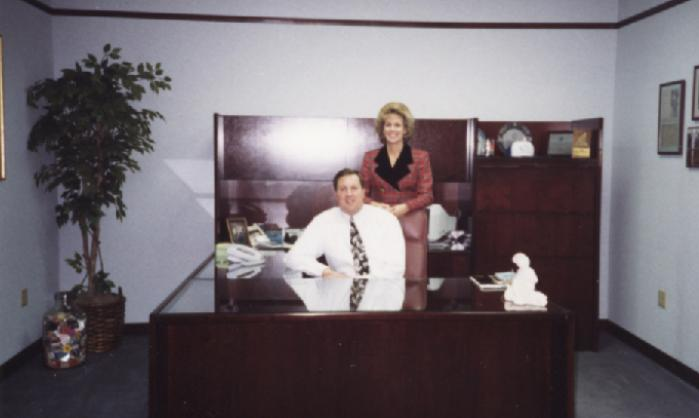 Rob and Carrie Lowther in 1993